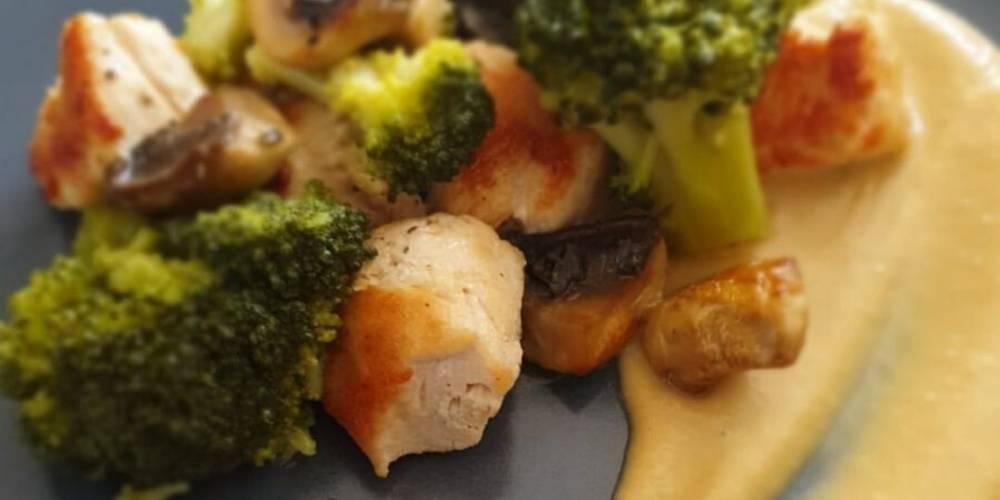 Brócoli salteado con pollo receta