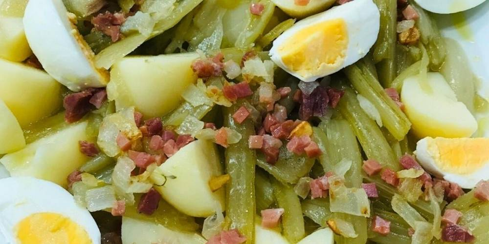 borraja con patatas receta