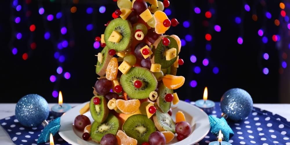 Arbol de navidad de frutas receta