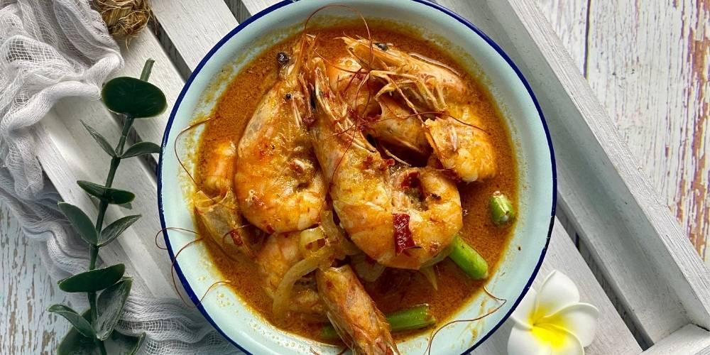 Receta calabaza al curry con langostinos