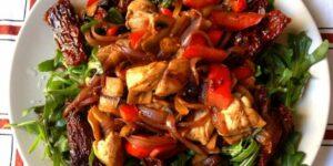 Salteado de pollo con verduras receta