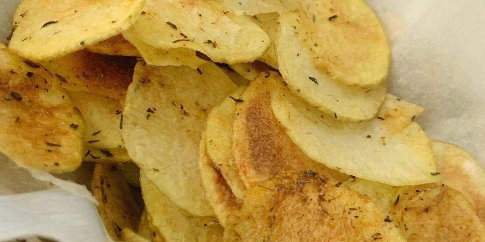 Patatas chips al microondas receta