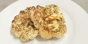 Receta de coliflor en filetes al horno
