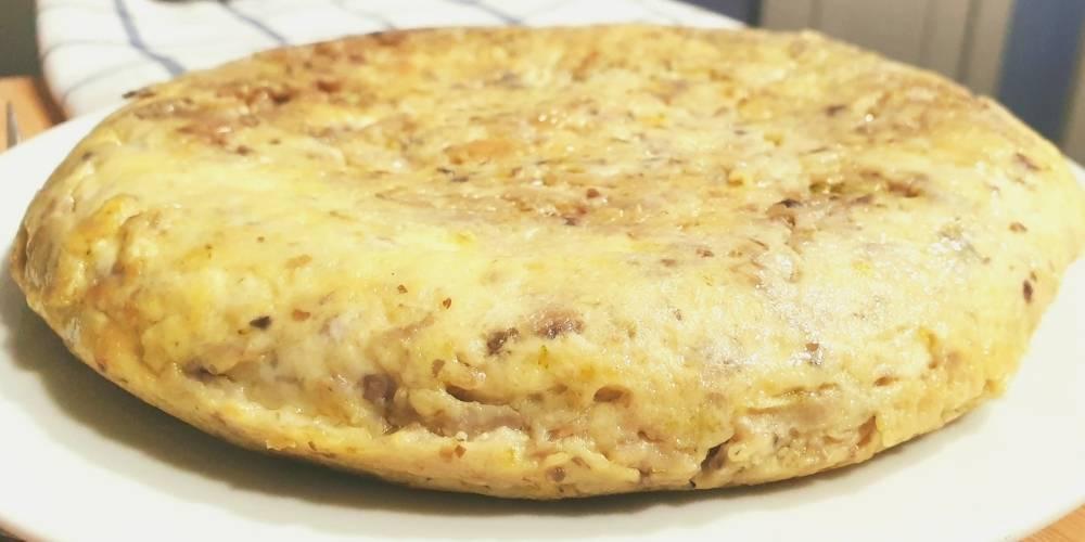 Receta de tortilla de champiñones